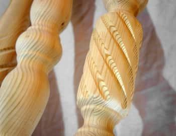 столб для лестницы сосна