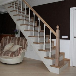 Лестница деревянная «Тайга 11»