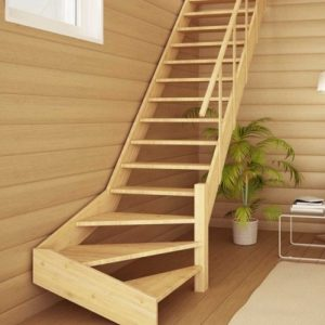 Лестница деревянная «Тайга 15»