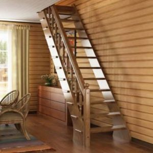 Лестница деревянная «Тайга 9»