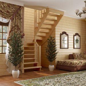 Лестница деревянная «Тайга 23»